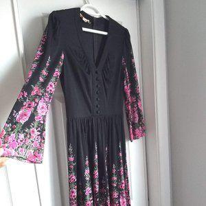 Vintage Boho Goth long dress